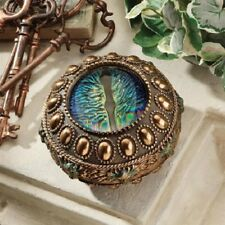 Medieval Mesmerizing Blue Dragon Eye Collectible Gothic Trinket Jewelry Box New