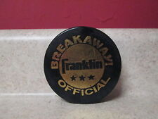 Vintage Breakaway Official Franklin Puck Black Gold Czechoslovakia 3""