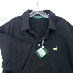 $129 NWT Masters Bobby Jones Augusta Polo Golf Shirt Made In ITALY  Black  XL