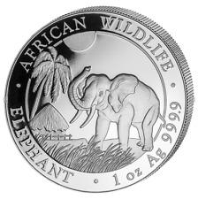 Somalia Elefant 2017 1 OZ Silber Silver Argent African Wildlife Elephant Somalie