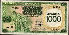 GRECE 1000 Drachmes 1939;Pick 111 ;peu circulé / Lot 58