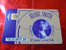 RARE TELECARTE - F 231.770.AC - BESSIE SMITH - A COLLE - LUXE - Côte 200 euros