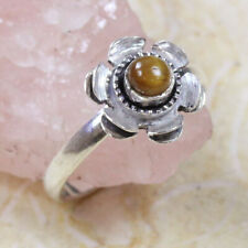 Ring of 6.5 St-24749 Tiger Eye 925 Silver Plated