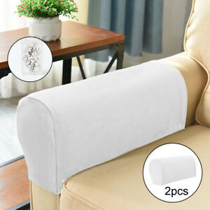 Stretch Sofa Armrest Covers Solid Slipcovers Recliner Sofa Armrest Protector