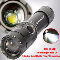 Sky Wolf Eye 3500LM CREE XML T6 Zoomable LED Flashlight Torch Light Lamp 18650