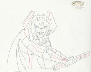 Superman Animated Series-Original Production Drawing- Big Barda