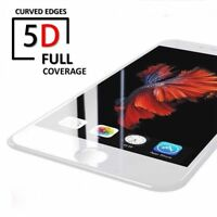 Apple iPhone 8 PLUS 5D Full Coverage Tempered Glass Screen Protector WHITE