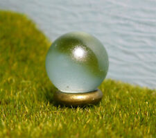 Miniature Fairy Garden Gazing Ball - Simple Gold Stand - Tiny Outdoor Decor