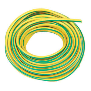 Earth Sleeving Yellow/Green, 4 Metres x 3mm PVC Earth Sleeve