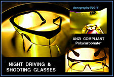 SHOOTER'S GLASSES & NIGHT DRIVING Hi-CON Yellow Polycarbonate - ANZI Compliant