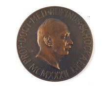 """Belgian bronze art medal """"PROF.DOCT.MED.RUFINUS.SCHOCKAERT"""" 1932 by A. Jorissen"""