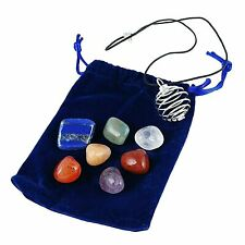 7 Chakra Pendant Necklace with Interchangeable Stones