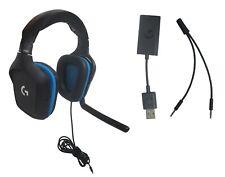 Logitech G432 DTS: X 7.1 объемный звук проводной 3.5 мм ПК игровая гарнитура из искусственной кожи