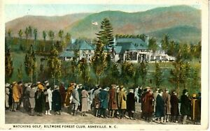1920's Watching Golf, Biltmore Forest Club in Asheville, NC North Carolina PC