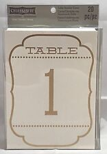Ivory Gold Table Number Tent 1-20 Shower Wedding Party Celebrate It