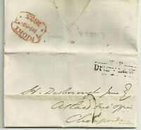 1823 REVERSED 7 NIGHT TIME MARK & TP DRURY LANE  GODFREY SYKES EX STAMP OFFICE