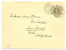 NED INDIE 1914  1 x PS COVER SOERABAJA - TO SWITZERLAND  PRACHT!!