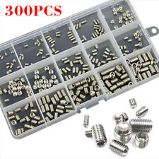300pcs Head Socket Hex Grub Screw Assortment Cup Point Kit Metric Standard AU