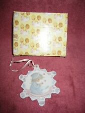 Precious Moments Snowflake Christmas Ornament ~ A Time to Share ~ 1994