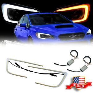 For 2015-21 Subaru WRX STI Headlight 1 Set Switchback LED Circuit Board C-Rings