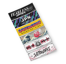 SaitoWorks Mini Slap Stickers (Pack #1) JDM Japan Car Drift Decal