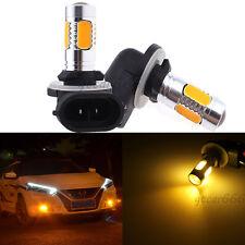 2 881 H27W/2 Amber Yellow COB LED Fog Driving Bulb Daytime Running Light 894 896