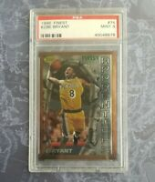 1996 Finest #74 Kobe Bryant PSA 9 MINT RC Rookie Lakers HOF