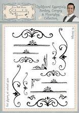 Phill Martin Chalkboard Essentials BORDERS CORNERS & FLOURISHES Clear Stamp Set