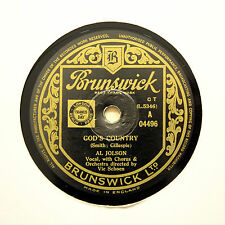 """AL JOLSON """"God's Country / It All Depends On You"""" BRUNSWICK 04496 [78 RPM]"""
