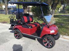2021 RED Evolution PRO LSV Golf Cart Car Classic 4 Passenger seat Street Legal