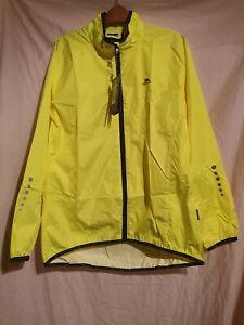 BNWT Trespass Packaway Hi Vis Water Resistant Jacket Size Large