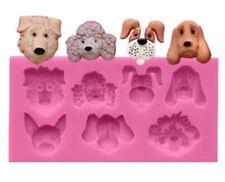 Molde de Silicona Molde-Perros Perro-Fondant/cupcake decoración topper/Resina Glaseado Pastel