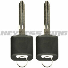 2 New Replacement Uncut Ignition Blank Chipped Car Key Transponder Chip For 46