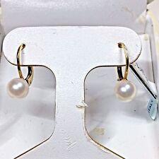 PEARL EARRINGS SET IN 18 K  WHITE GOLD         $  295.00
