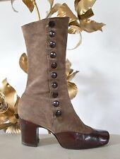 20er Stil Gouvernan Stiefel Boots Stiefeletten Knöpfe 60er TRUE VINTAGE 60´s