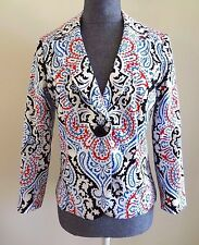 BOSTON PROPER 3/4 Sleeve Moroccan Print Blazer Jacket - 8 (Runs small) - NWT