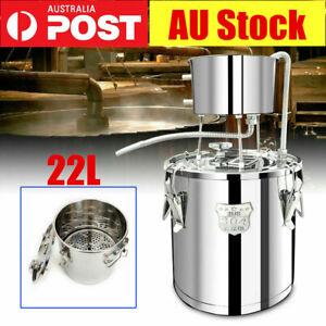22L DIY Home Distiller Boiler Moonshine Still Spirits Water Alcohol Oil Brew