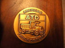 """ATD """"American Truck Dealers"""" 1981 Wood Plaque Awarded to RockWell International"""