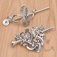 Women Retro Hairpin Boho Knot Hair Clips Metal Stick Slide Hair Charm Jewelry