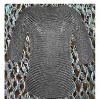 Aluminum Chain mail 9 mm Round Riveted Half Sleeve Large Chainmaile Shirt