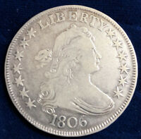 Gorgeous ~ 1806 ~ Draped Bust Half Dollar ~ Pointed 6 Great Eye Appeal!