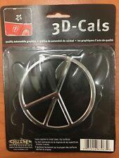 Case Lot Of 144 Peace 3D-CALS 3-D Chrome Plated Plastic Emblem