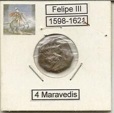 Felipe III  4 Maravedís  Ceca Burgos    NL383