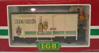 LGB G # 4026 Güterwagen BECKS BIERWAGEN  Kühlwagen Figur Rangierer OVP Löscht