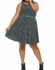 da5bdf1796852 Jessica Howard Polka Dot Matte Jersey Fit And Flare Dress Size 18W - No Belt