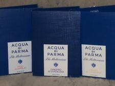 NEW ACQUA DI PARMA PERFUME SAMPLES X 3 PCS, CEDRO+GINEPRO SARD+FICO di AMALFI