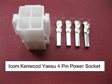 Original Icom Kenwood Yaesu 4 PIN DC Power Socket IC7000 TS-480 FT-9000 FT-450
