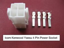 Icom Kenwood Yaesu 4 PIN DC Power Socket IC7000 TS-480 FT-9000 FT-450