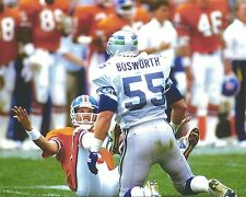 JOHN ELWAY & BRIAN BOSWORTH 8X10 PHOTO DENVER BRONCOS PICTURE NFL FOOTBALL