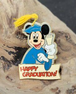 "Disney Mickey Mouse ""Happy Graduation"" Pin With Real Tassle 2005 HTF"